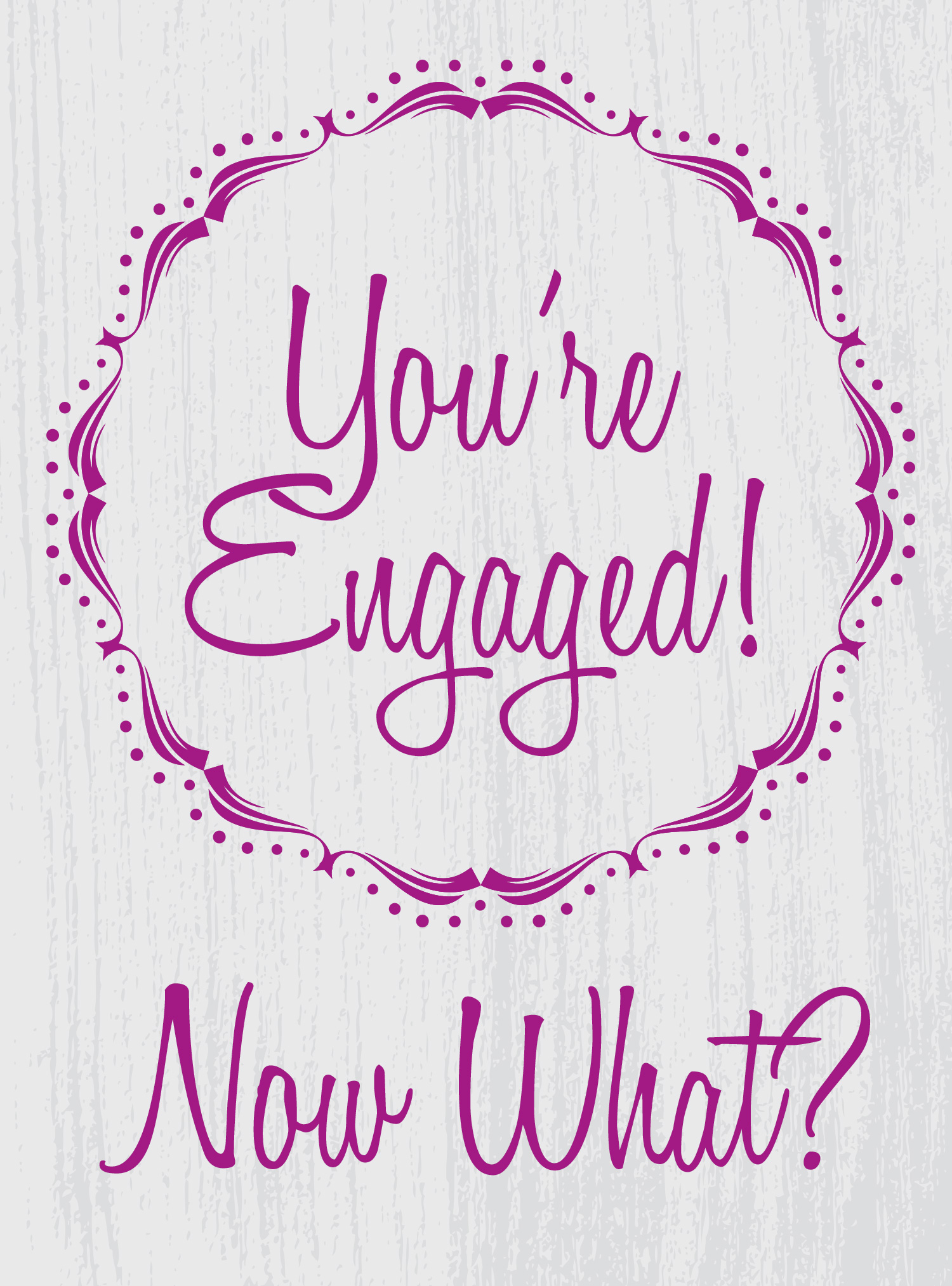 You're Engaged.....Now What?